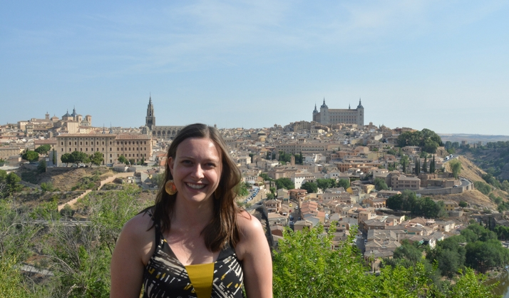 Allyson M. in Toledo Spain during her Language Homestay program