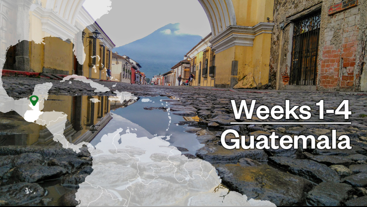 Start your adventure in Guatemala.
