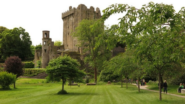 Join the crowd and kiss the Blarney Stone at Blarney Castle