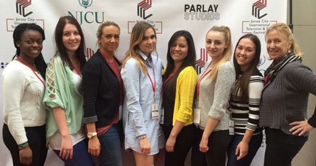 Au pairs posing for a photo opportunity.