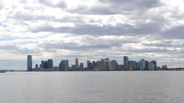Jersey City as seen from Manhattan