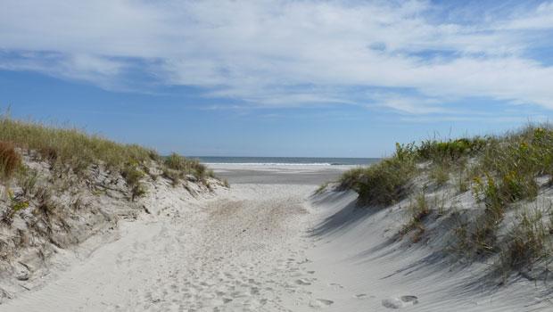 Beach in Brigantine, New Jersey