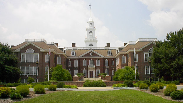 The Delaware State Capitol (or Legislative Hall) in Dover, Delaware