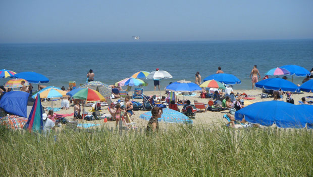 A view of the beach in Rehoboth Beach, Delaware