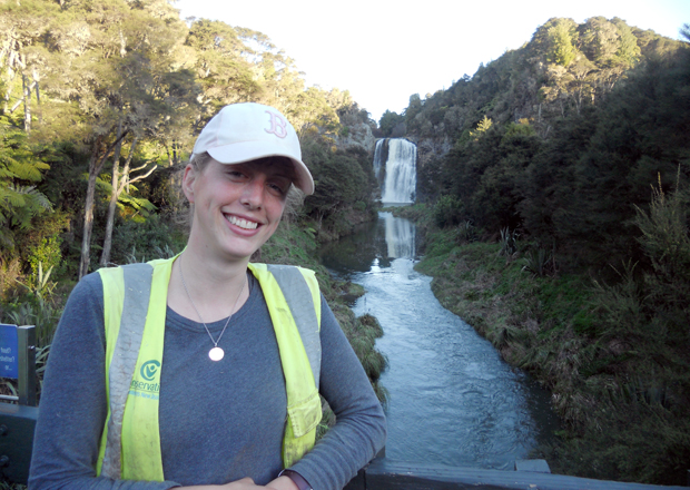 Anna saw some of the most beautiful areas of New Zealand.