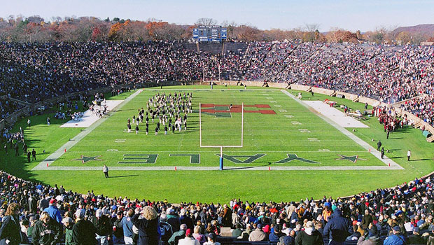 Halftime activities at The Yale-Harvard Game