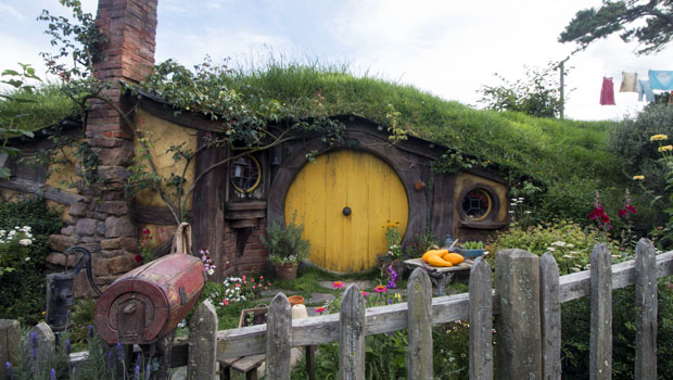 Samwise Gamgee's hobbit hole at Hobbiton.