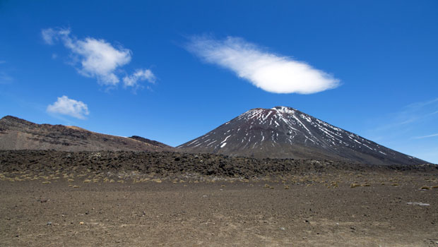 Mount Ngauruhoe (aka Mount Doom) in Tongariro National Park.