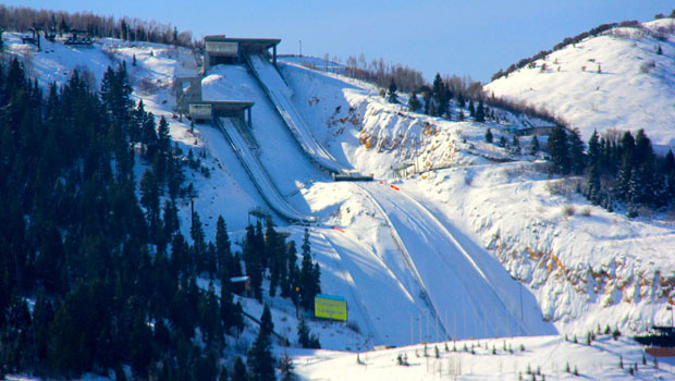 Utah Olympic Park ski jumps