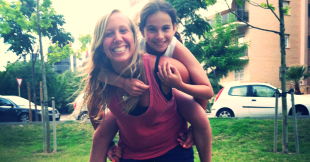 au pair in Spain with host sister