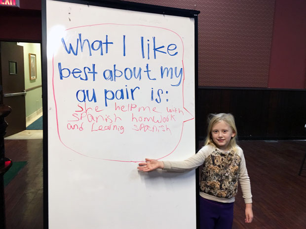 Host child with whiteboard