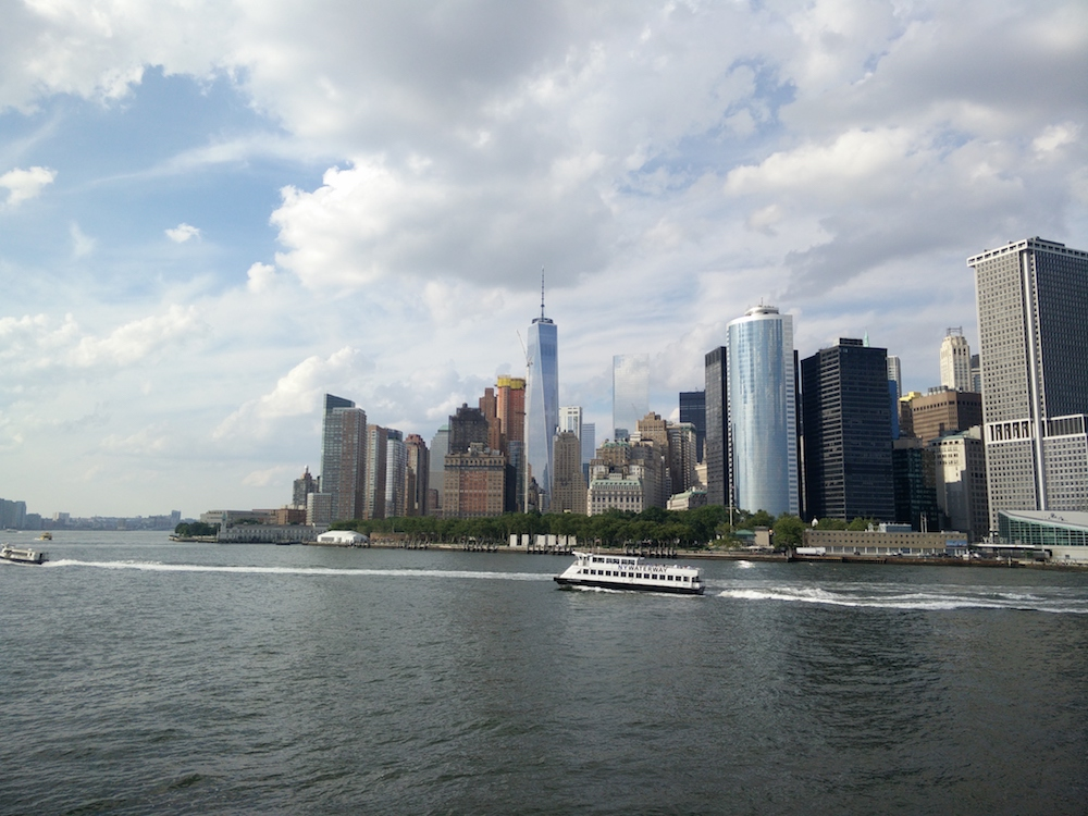 Lower Manhatten from the Staten Island Ferry