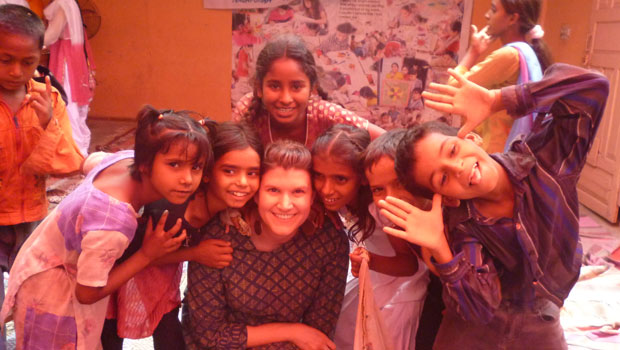 Grant recipient Kristin fought sex trafficking in India with Apne Aap.