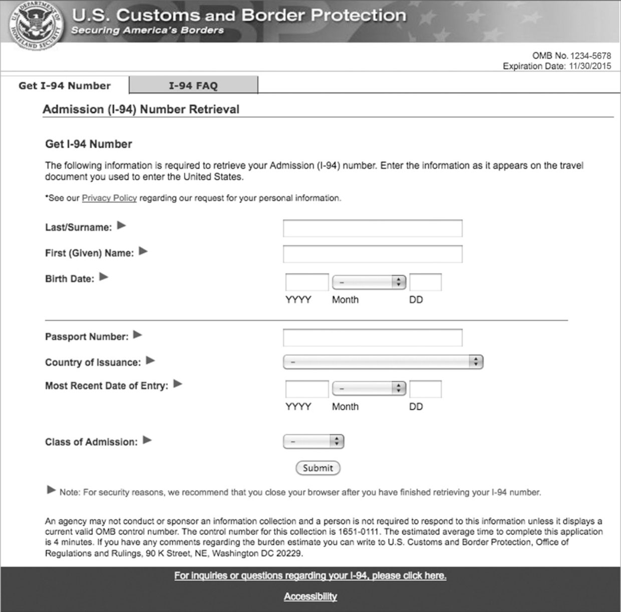 Orientation and important immigration and work documents i94 aiddatafo Choice Image