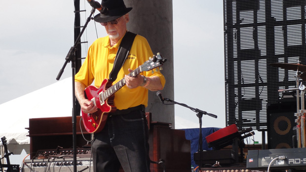 Sonny Burgess playing at Riverfest in Little Rock, Arkansas