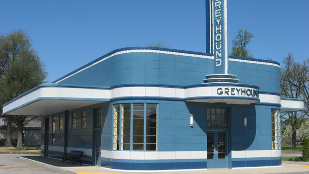Greyhound Bus Station in Blytheville, Arkansas