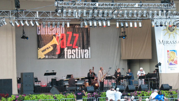 Chicago Jazz Festival at Petrillo Music Shell in Grant Park