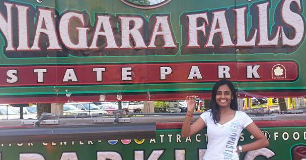 Laetitia at Niagara Falls State Park.