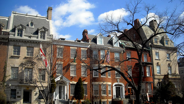 Embassy Row in Washington, DC