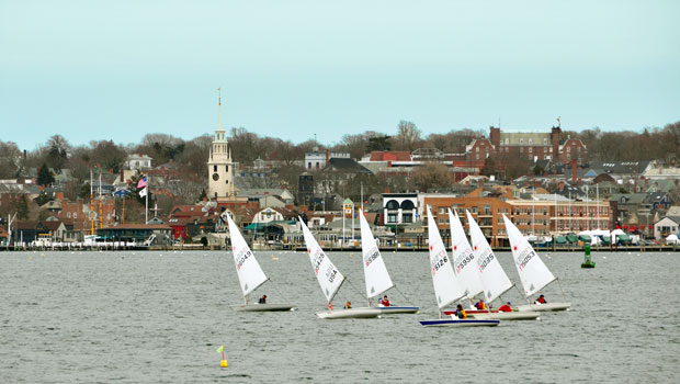 Sailboats in Newport, Rhode Island