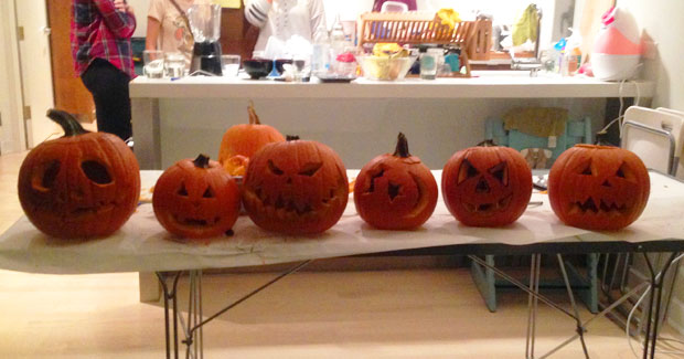 Brooklyn au pairs' pumpkins.