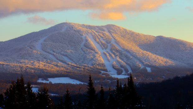 Ski slopes on Burke Mountain, Vermont