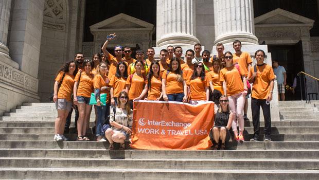 InterExchange participants tour the New York Public Library