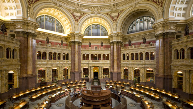 Main Reading Room of the Library of Congress in Washington, D.C.