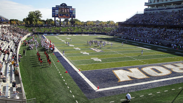 Football stadium at the University of Akron