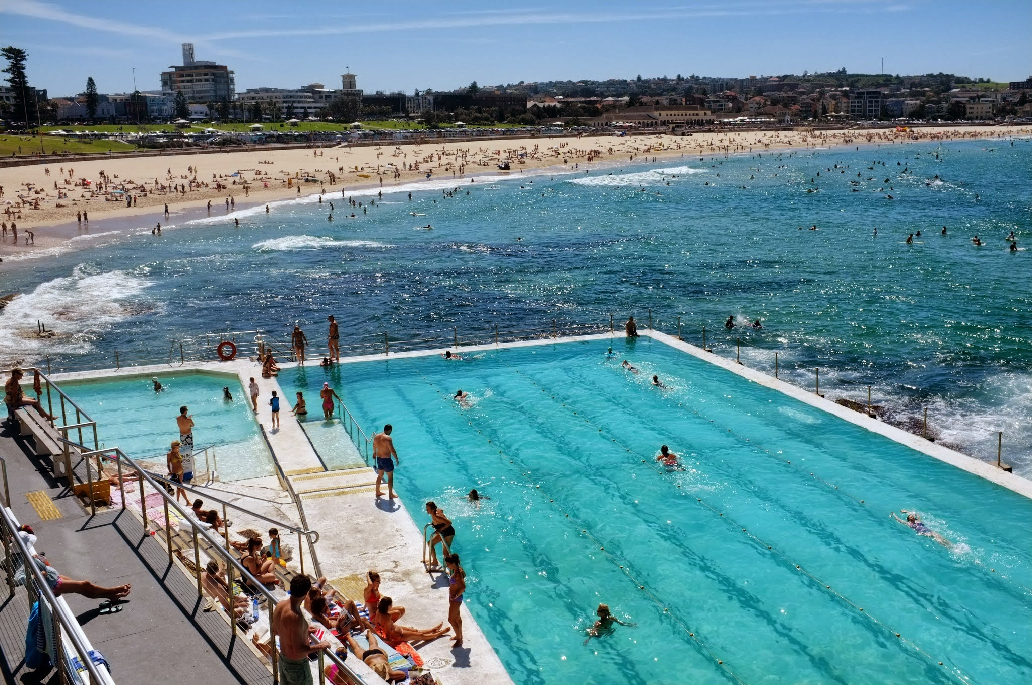 Relax on Bondi Beach in Sydney, Australia.