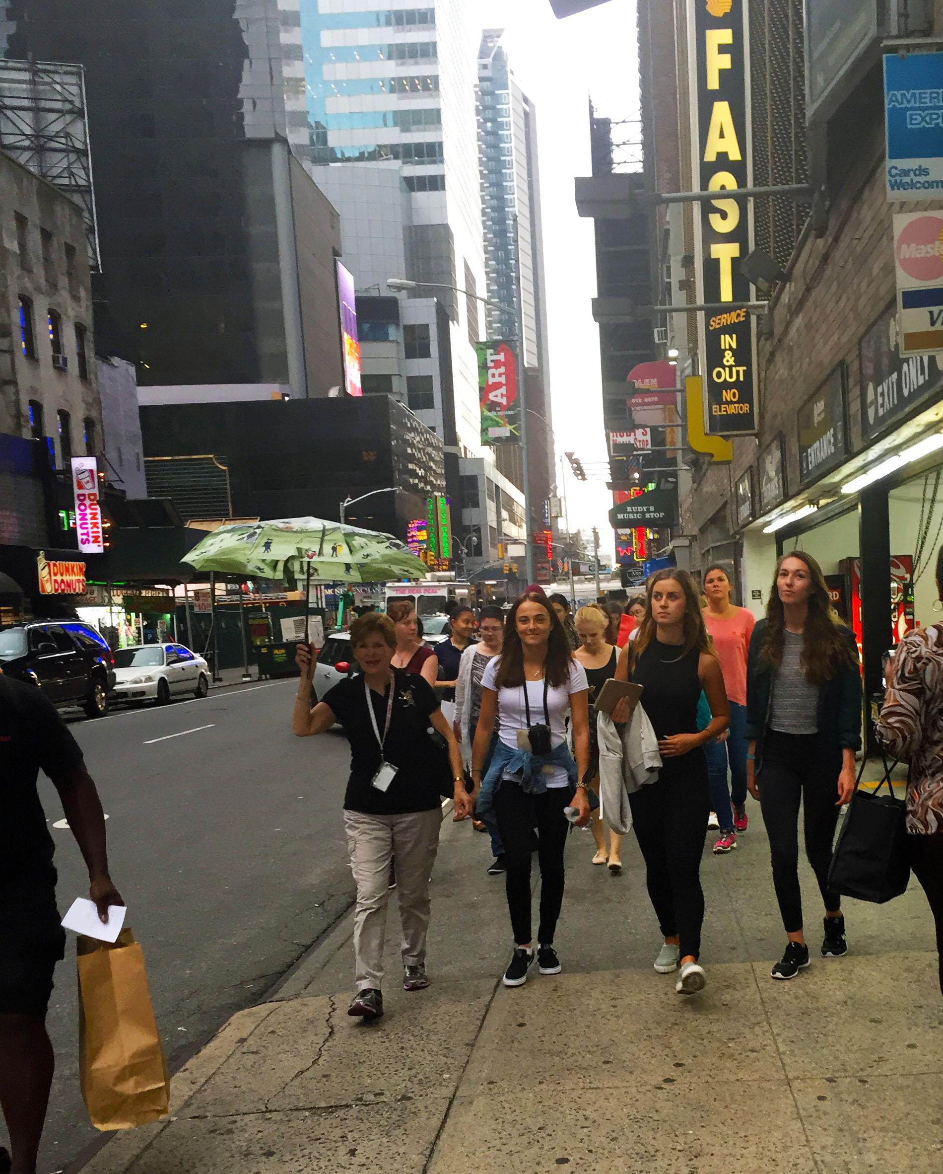 on our walking tour