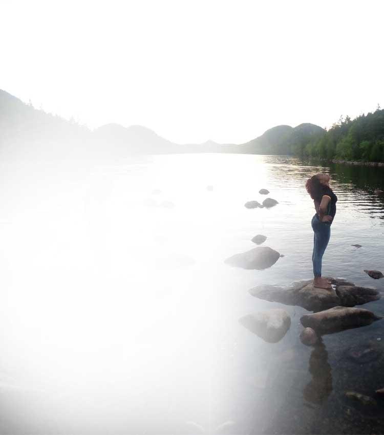 Participant at Lake