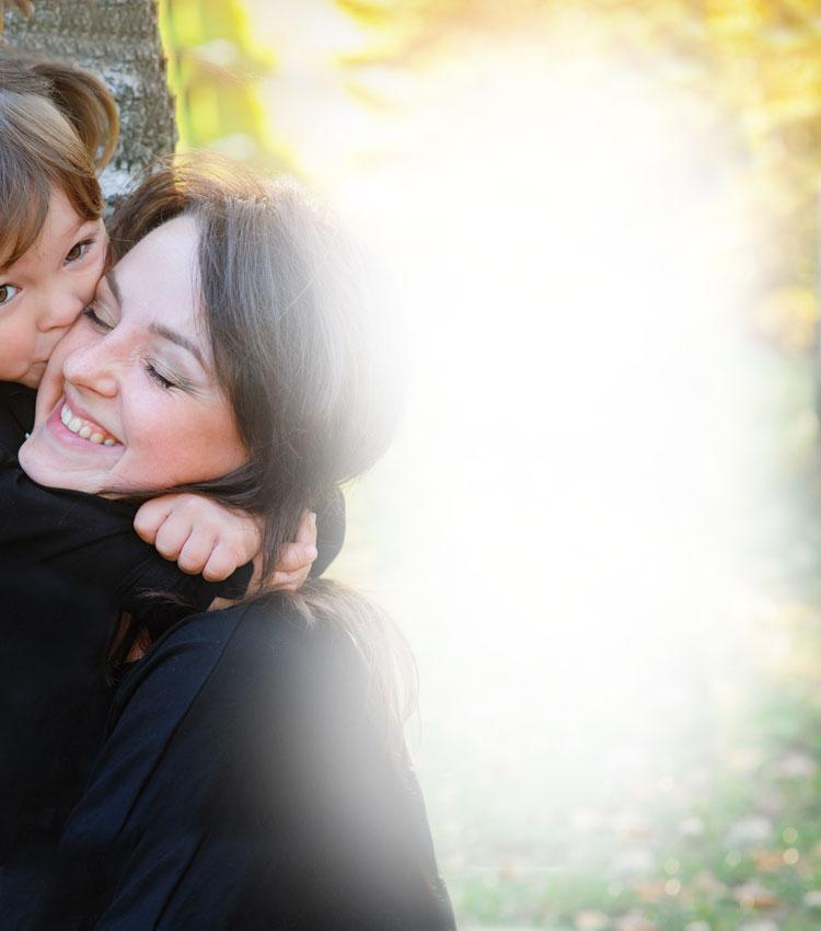 Tutor Hugging Host Sister