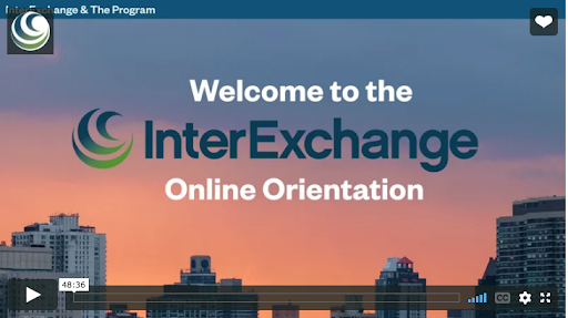 Screenshot of orientation