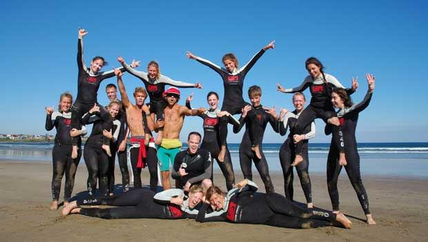 Participants in Surf Gear