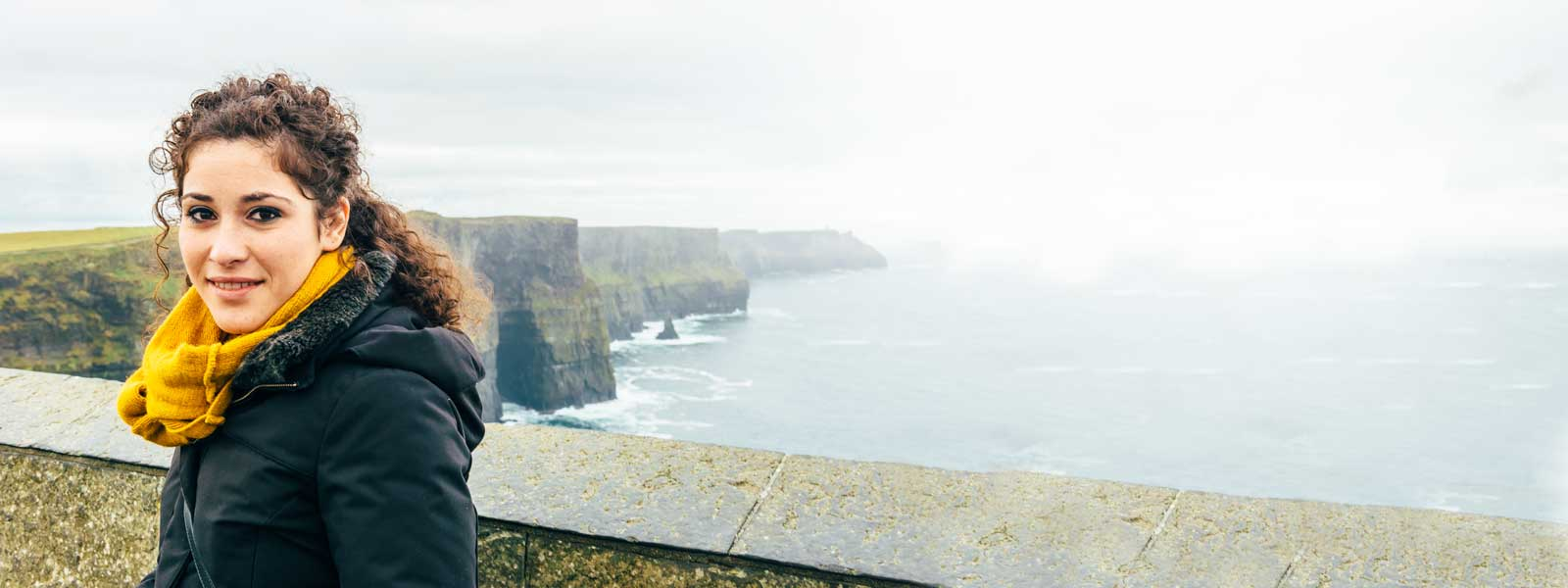 Participant with Cliffs of Ireland