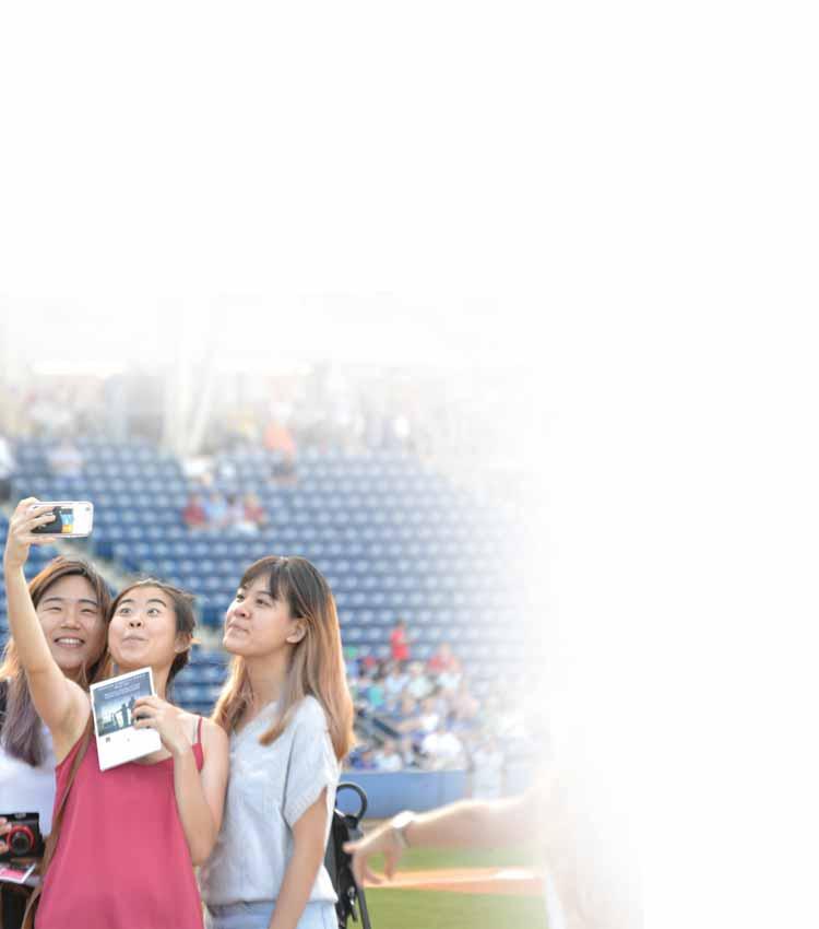 Selfie at Baseball Game