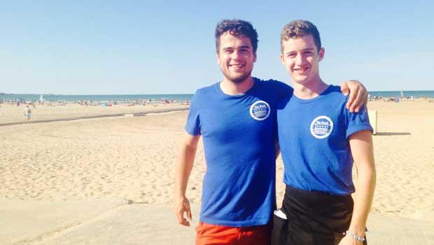 Partipants at beach